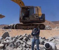 استئناف العمل فى أعمال حماية مدن جنوب سيناء من أخطار السيول