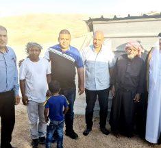 وفد نقباوي برئاسه الاطرش رئيس مجلس القسوم يزور عائله الطفلين من الجهالين