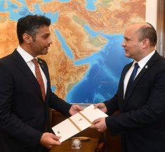 رئيس الوزراء الإسرائيلي نفتالي بينت يستقبل سفير الامارات